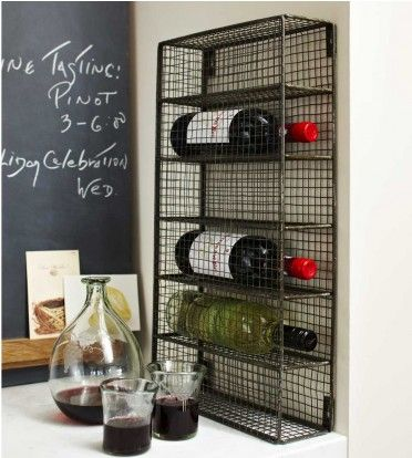 I want a few of these for my kitchen!!!  Wine Cage	  $89