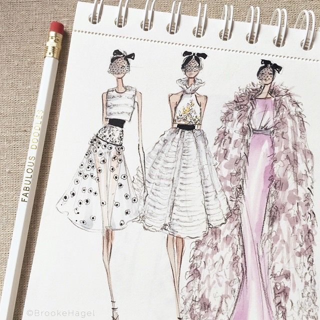 Couture sketchbook moment - Giambattista Valli Haute Couture Spring 2015