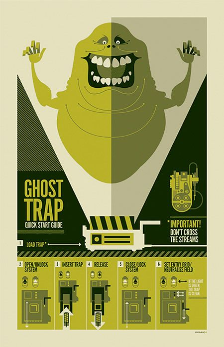 Tom Whalen Movie Posters, Tom Whalen, Ghostbusters, Illustration, Art, Retro Posters, Photography Design, Graphics, Ghosts Trap