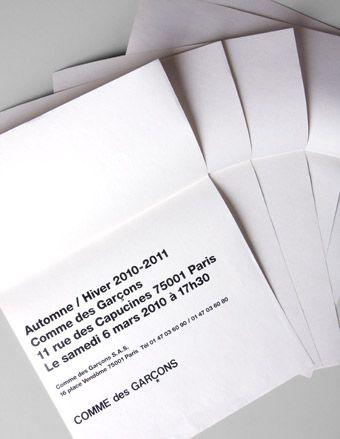 Fashion Week invitations | Fashion | Wallpaper* Magazine: design, interiors, architecture, fashion, art