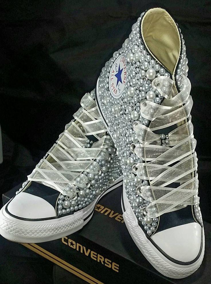 Bridal Converse Wedding Converse Bling Amp Pearls Custom