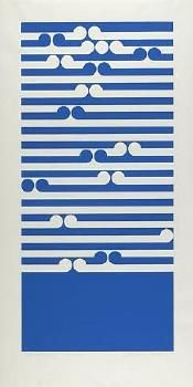 'Amoka' screenprint by Gordon Walters, NZ. (1972) Sold for 7,000NZD in 2010.