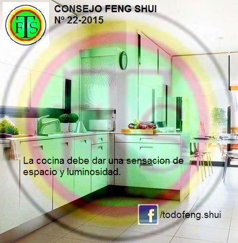 CONSEJO FENG SHUI Nº 22/2015 La cocina L a cocina debe dar una sensación de espacio y luminosidad. Debido a que representa ...