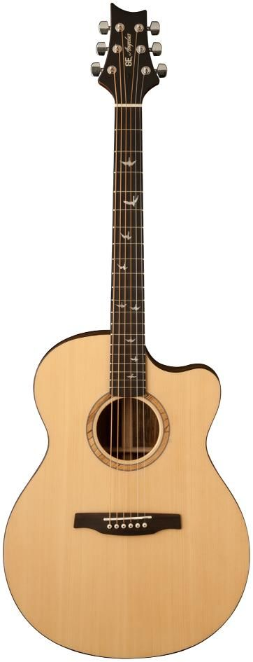 PRS SE Angelus Alex Lifeson Acoustic Guitar. This guitar is a more affordable take on the more expensive Private Stock PRS guitar, having a slightly shallower body depth that helps alleviate feedback problems and make the guitar comfortable to play.