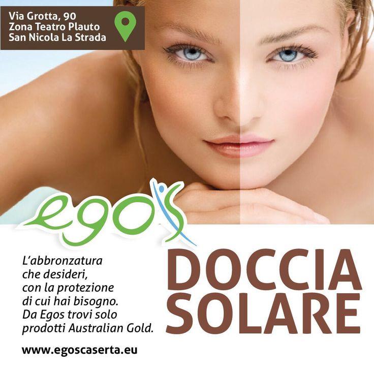 Prenota la tua doccia solare! L'abbronzatura  che desideri,  con la protezione di cui hai bisogno ! Da Egos trovi prodotti Australian Gold. www.egoscaserta.eu