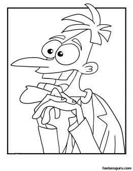 Free Printable Dr Doofenshmirtz Phineas And Ferb Coloring Pages For Kids Find This Pin More On Disney Other Favorite Characters