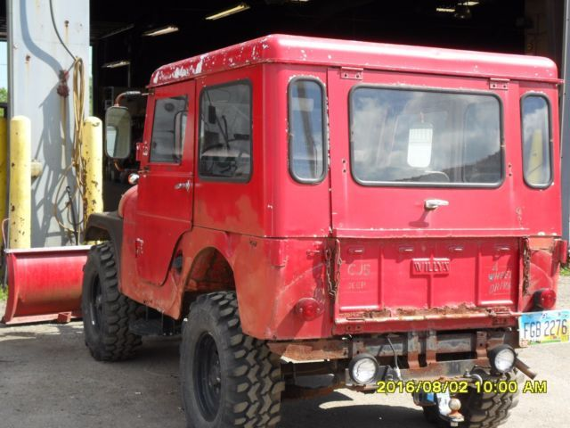 1955 JEEP CJ5 WITH HARD TOP AND SNOW PLOW for sale: photos, technical specifications, description