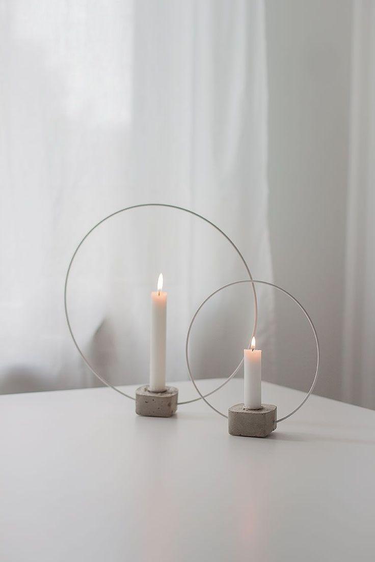Seit ich Sandra 's selbstgefertigten Kerzenhalter …
