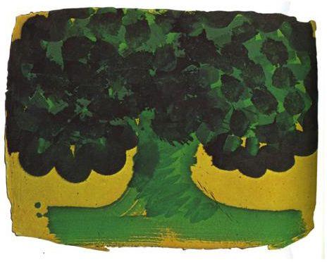 "wetreesinart: "" Howard Hodgkin (Brit. 1932- ), Tree, 1978, painting on indian…"