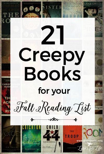 21 creepy books for fall pin