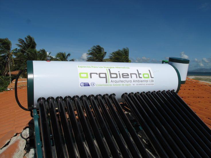 Calentadores solares en la Isla de Coche. Venezuela