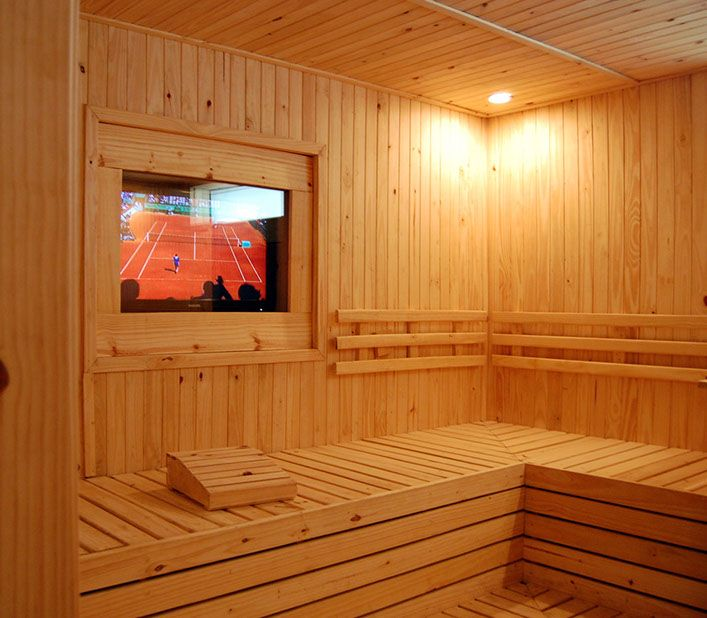 Calle 11 spa urbano sauna with LCD, cool