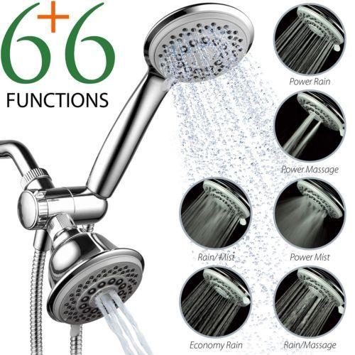 Bath-Shower-Head-30-Setting-SpiralFlo-3-Way-Luxury-Shower-Head-Combo-Wall-Mount