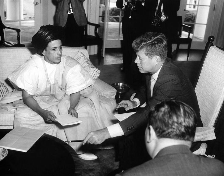 President John F. Kennedy (in rocking chair) meets with Ambassador of ...
