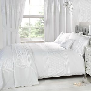 White Bedroom Curtains And Bedding