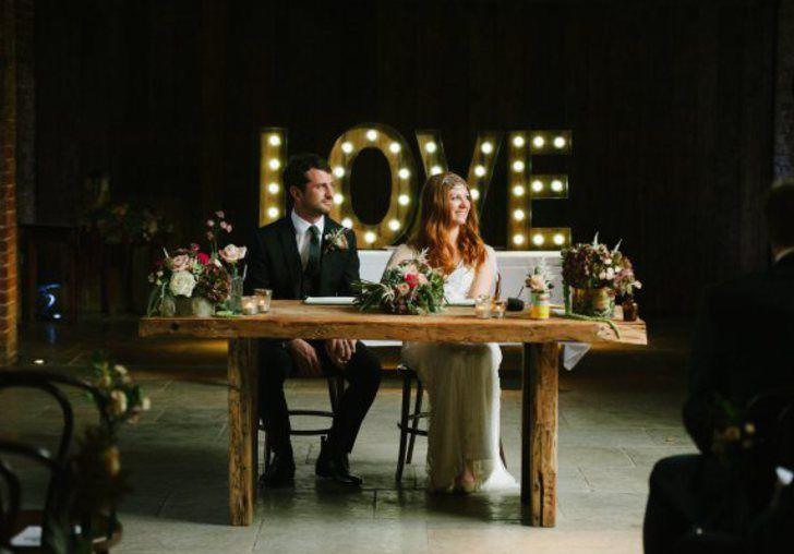 Giant LOVE letter LED lights