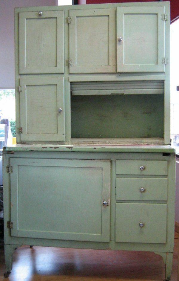 GREEN HOOSIER CABINET BAKING HUTCH on - 32 Best My Hoosier Images On Pinterest Hoosier Cabinet, Dressers