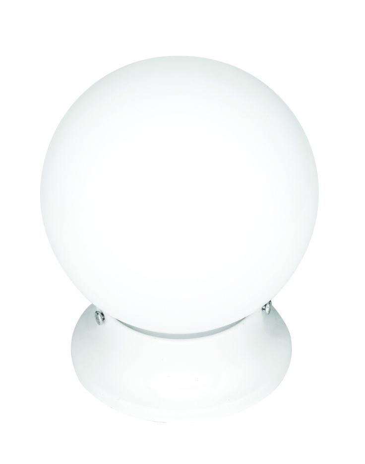 "Sphere 6"" DIY Glass Ball in White"
