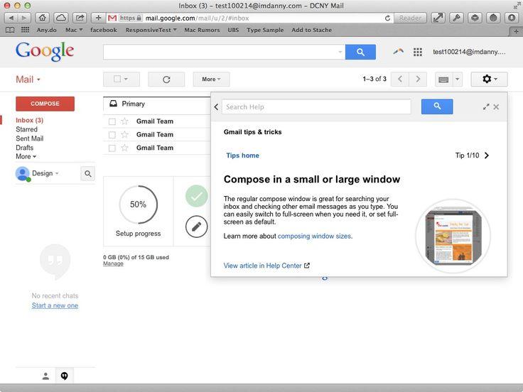 Gmail - Info Detail