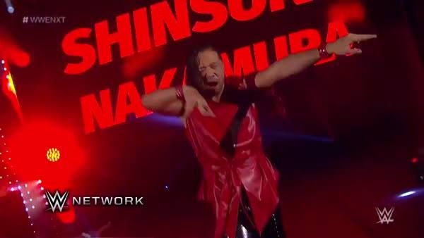 HE'S BAAACK! Shinsuke Nakamura enters the WWE NXT ring to face former Cruiserweight Champion TJ Perkins on WWE Network!