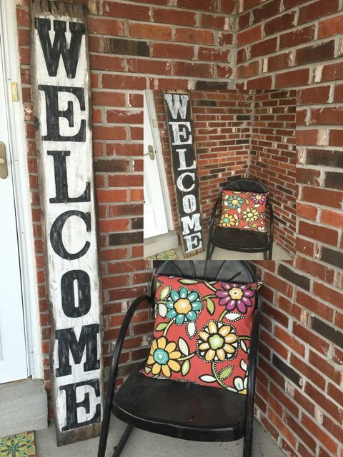 Front porch welcome sign, Front porch rustic welcome sign, Front porch distressed welcome sign, Front porch wood welcome sign, Welcome sign by RustiqueSigns on Etsy https://www.etsy.com/listing/253725993/front-porch-welcome-sign-front-porch