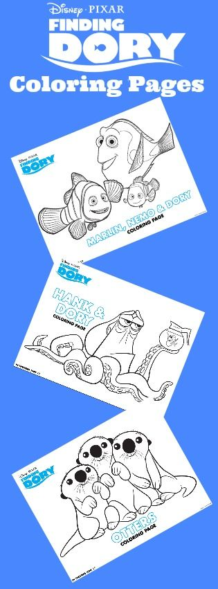 Free Printable Finding Dory Coloring Pages | Finding Dory Printables