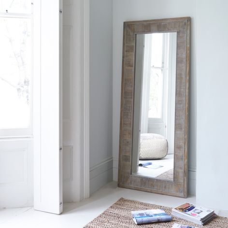 Tall Flotsam wooden handmade full length mirror