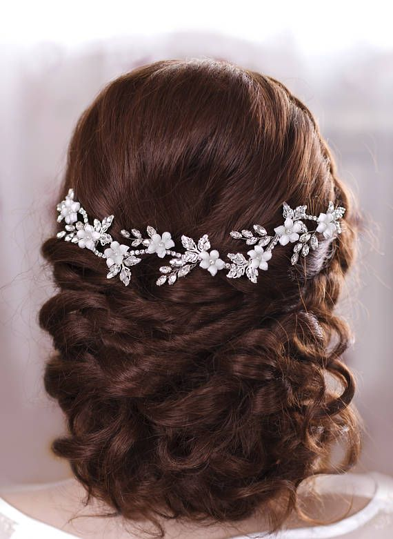 Bridal Hair Jewelery Crystal headband Bridal hair flowers