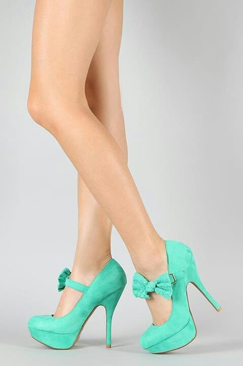 Teal with a lower heel