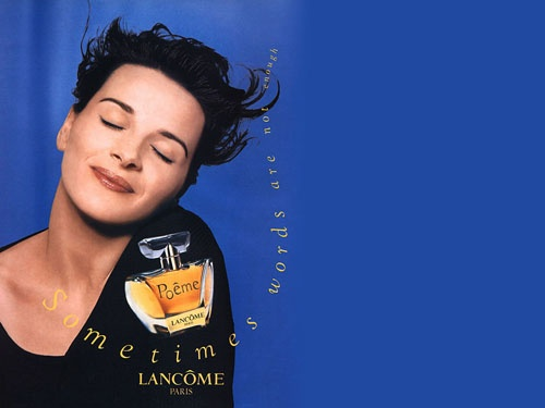 Juliette Binoche for Poeme Perfume by Lancome
