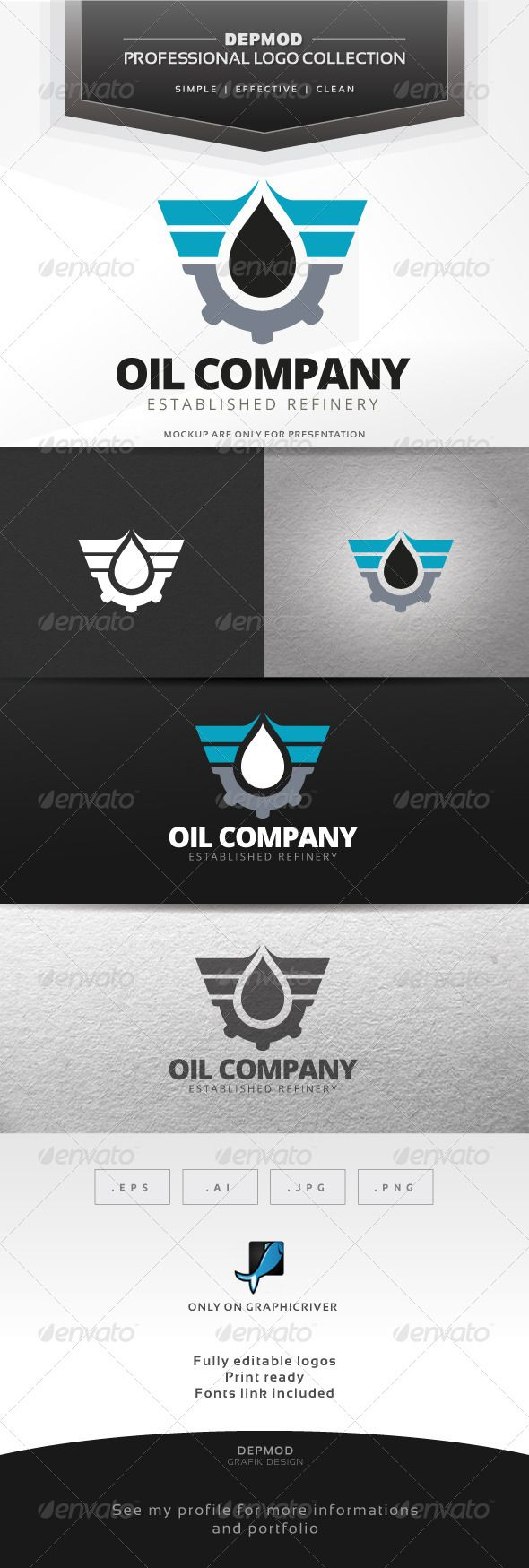 Oil Company - Logo Design Template Vector #logotype Download it here: http://graphicriver.net/item/oil-company-logo/7695472?s_rank=878?ref=nexion