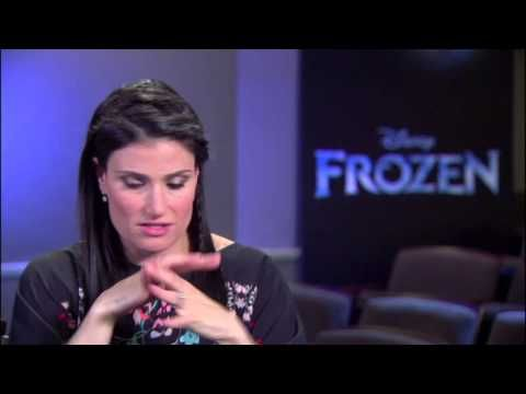 "Frozen: Idina Menzel ""Elsa"" On Set Movie Interview - YouTube"