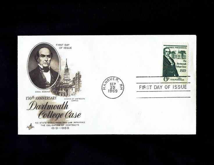 US 1380 Daniel Webster Dartmouth College Case Sep 22 1969 Hanover PA First day Cover lot #F1380-1 by VicsStamps on Etsy