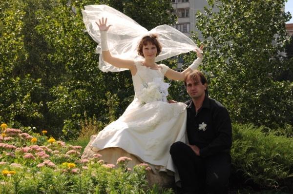 Свадебное платье, размер 42