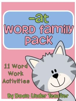 at Word Family Centers and Activities Pack – read write