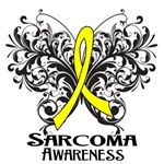 Butterfly Floral Sarcoma Cancer Shirts