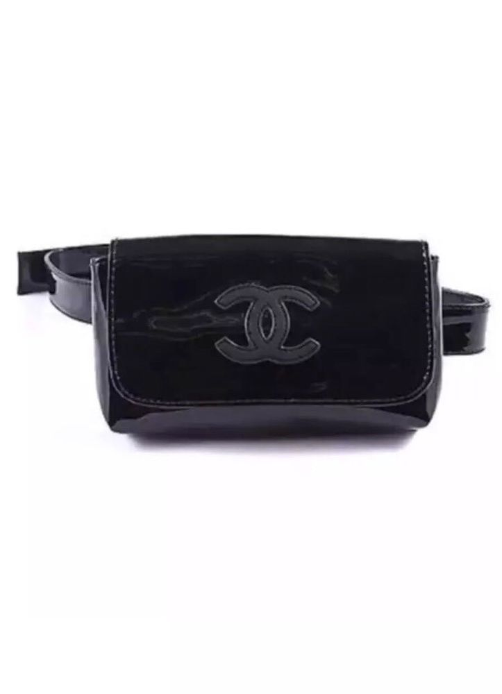 d33a925e84031d CHANEL VIP Black Patent Fanny Pack Waist Belt Bag New In Package Authentic # CHANEL #FannyPack