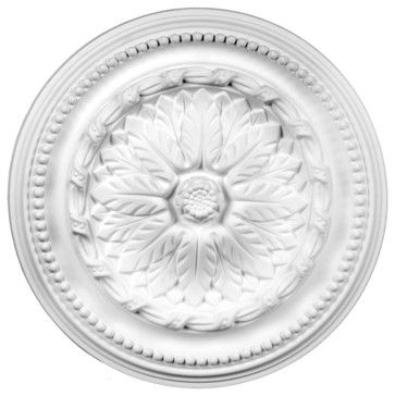 White Urethane Ceiling Medallion - transitional - Ceiling Medallions - The Renovator's Supply, Inc.