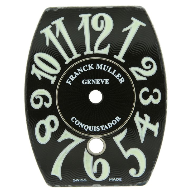 Franck Muller Conquistador Black and Luminor Watch Dial 25x15mm