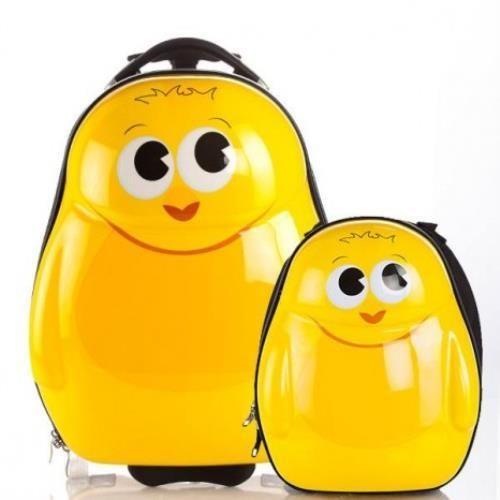 3 Boyutlu Çekçekli Valiz ve Sırt Çantası 2li Set Civciv - Seyahat - Durbuldum.com - çekçekli valiz