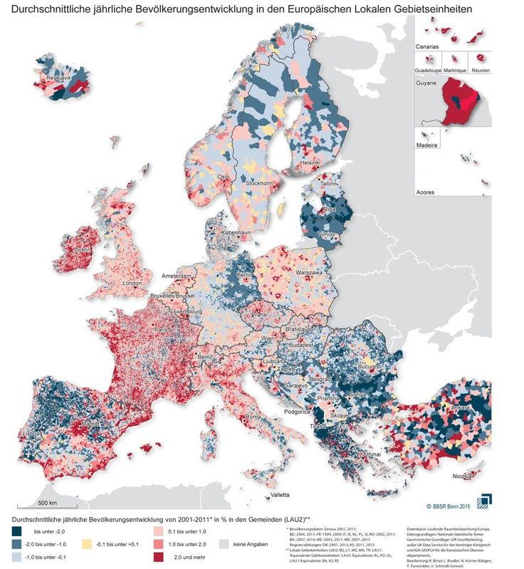 Residents have continued to leave Albania, Bulgaria and Latvia in particular in search of jobs, while even relatively wealthy eastern Germany has been hollowed out almost everywhere except the Berlin region. Europe's Population Shifts From 2001 to 2011 - CityLab