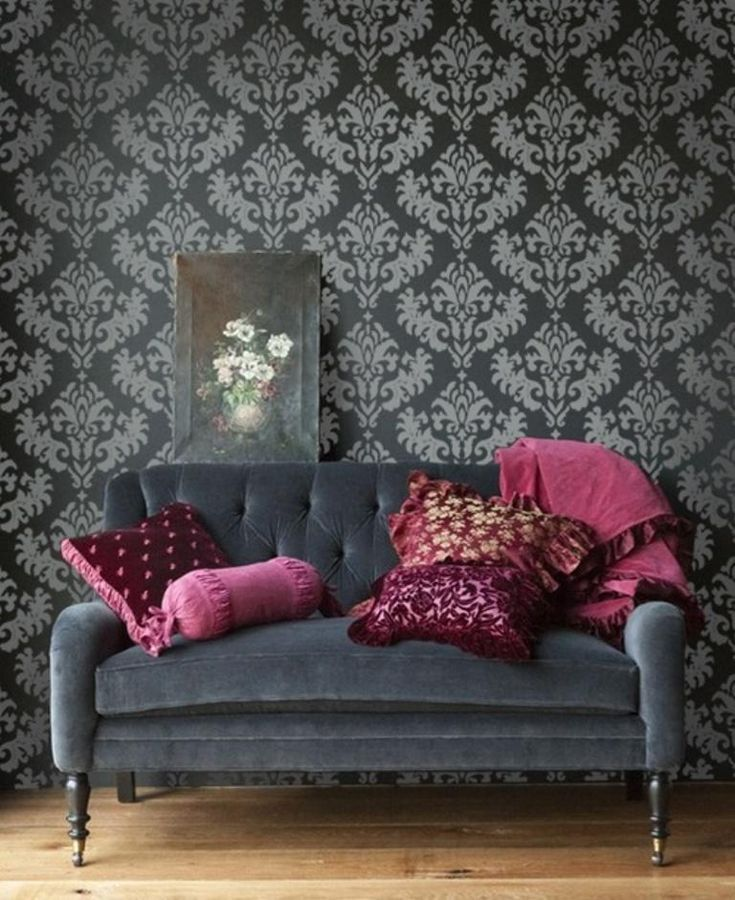 Elegant Cream Hallway With Damask Wallpaper: Best 25+ Damask Wallpaper Ideas On Pinterest