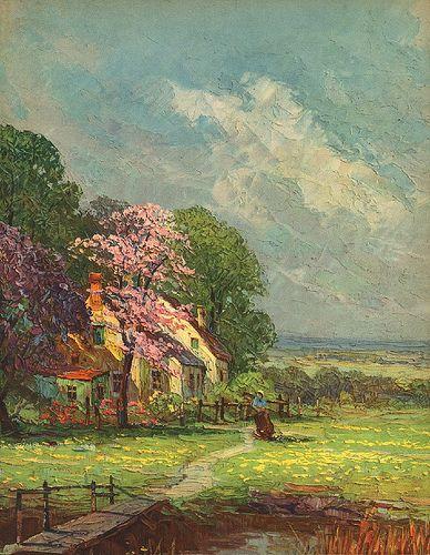 Spring Awakening | vintage calender print | Kulukulutea | Flickr