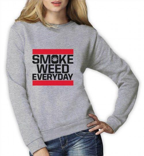 26.99$  Watch here - http://vikqa.justgood.pw/vig/item.php?t=vnvg1z626675 - SMOKE WEED EVERYDAY Women Sweatshirt SMOKE CANNABIS Dope Swag Fresh ADDICTED 26.99$