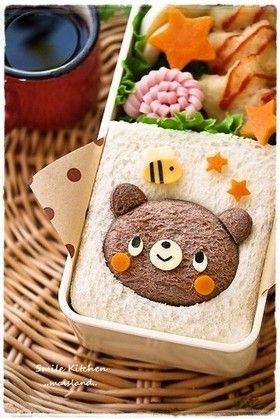 食パンdeくまちゃんサンド*キャラ弁 BEAR