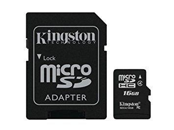 Kingston Technology Micro SDHC 16 GB Memory Card - Standard Packaging