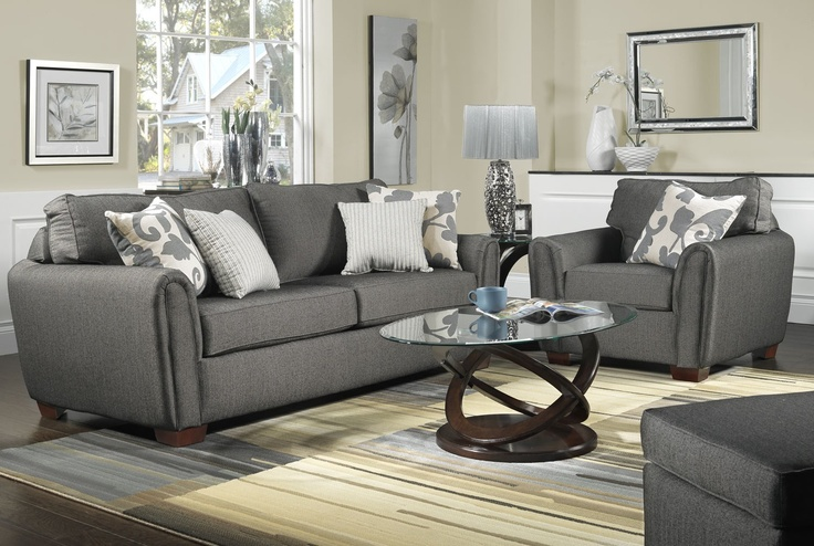 Grey furniture - perfect for a white and silver living room!