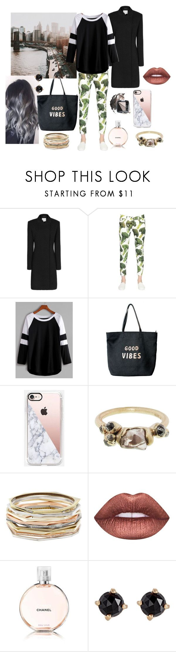 """Fall in New York City"" by ivorylineslead ❤ liked on Polyvore featuring Reiss, Sangue, Venus, Casetify, Ruth Tomlinson, Kendra Scott, Lime Crime, Chanel, Irene Neuwirth and Avon"