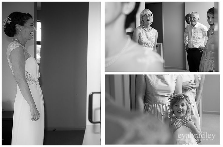 First look with family  By Hawke's Bay wedding photographers, Eva Bradley Photography   www.evabradley.co.nz