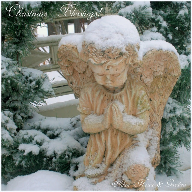 Angel In The Snow From Carolyn Aiken House U0026 Garden
